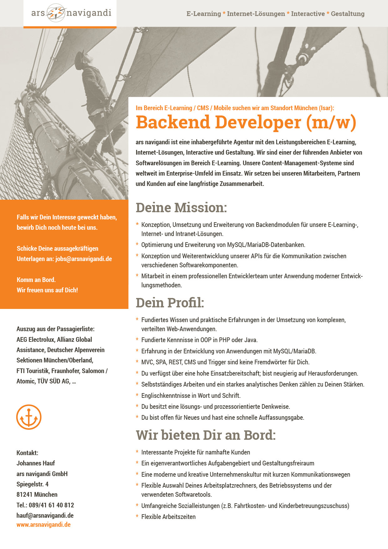 Backend Developer (m/w)